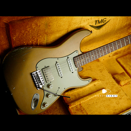 "TMG Guitar Co. Dover HSS ""Aged Gold""   Medium Aged & Hard Checking"