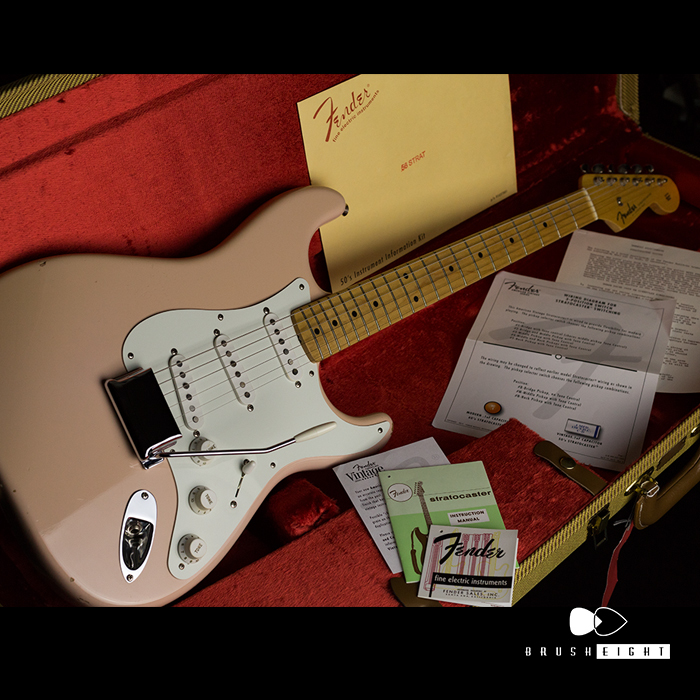 "【8SALE】Fender  New American Vintage '56 Stratocaster ""Shell Pink""  2013's"