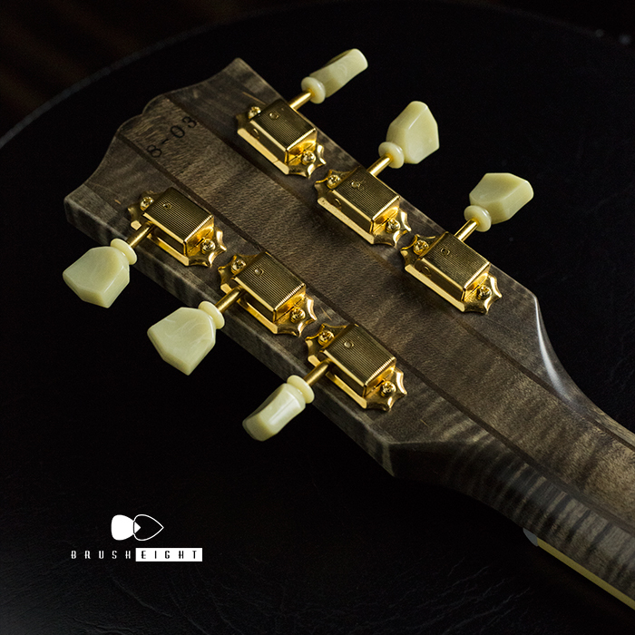 "【SOLD】Brusheight ""ProtoType"" Semi Acoustic ""Flame Maple"" Seethrough Black"