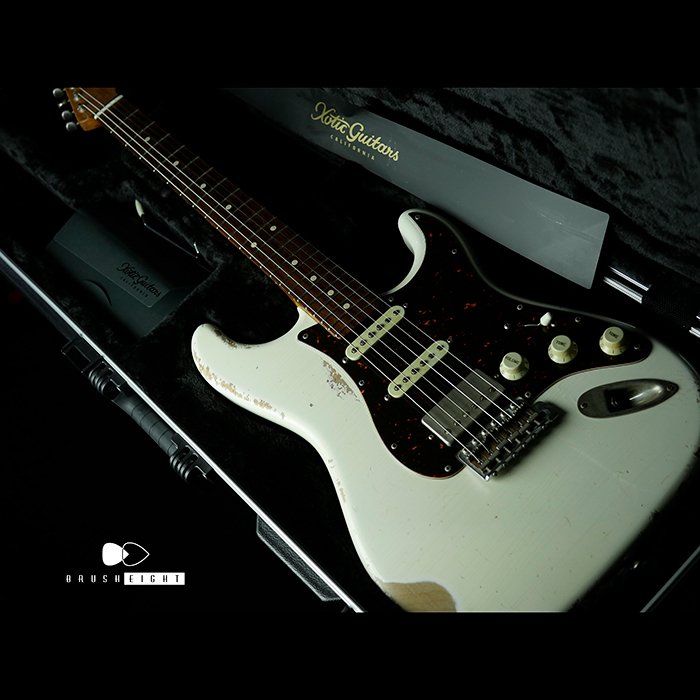 "Xotic XSC-2  ""22F Roasted Flame Maple""  Olympic White Heavy Aged 2018's"