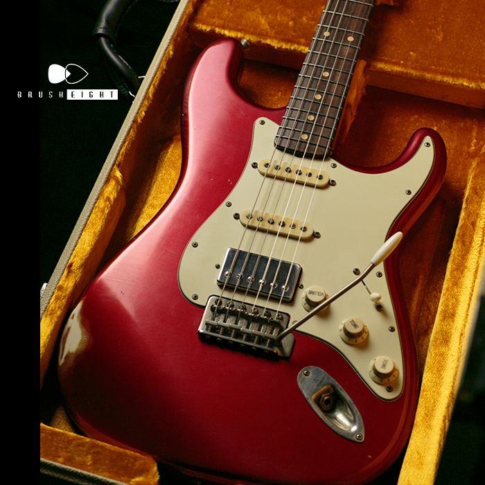 "【SOLD】TMG Guitar Co. Dover HSS ""Candy Apple Red""  Midium Aged & Checking"