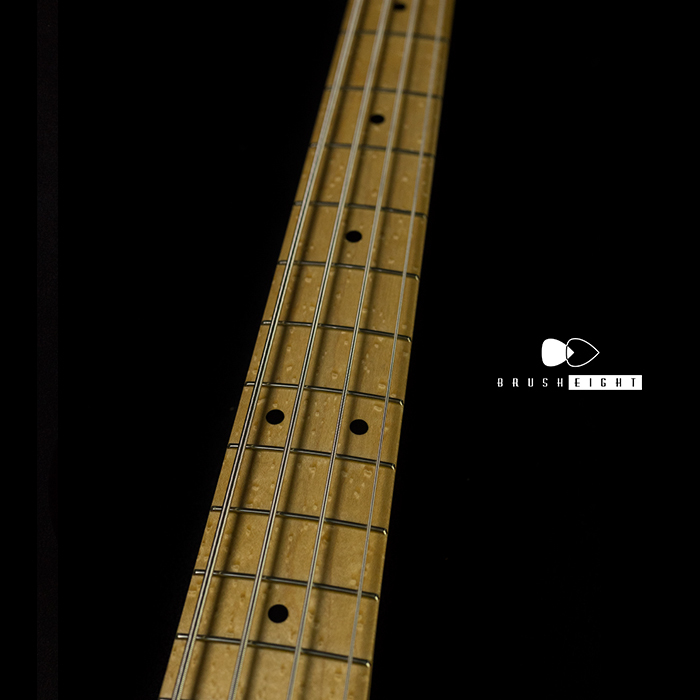 "【SOLD】J.W Black USA Jazz Bass 2TS JWB-292  ""Soft Aged"" bird's-eye Maple Neck"