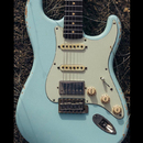 "【SOLD】TMG Guitar Co. HSS Dover Sonic Blue ""Flame Maple"""
