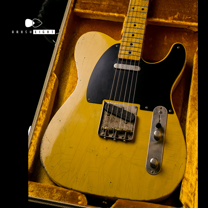"【SOLD】TMG Guitars Co. Gatton  ""Blackguard""  Light Aging & Hevy Checking bird's-eye Maple"