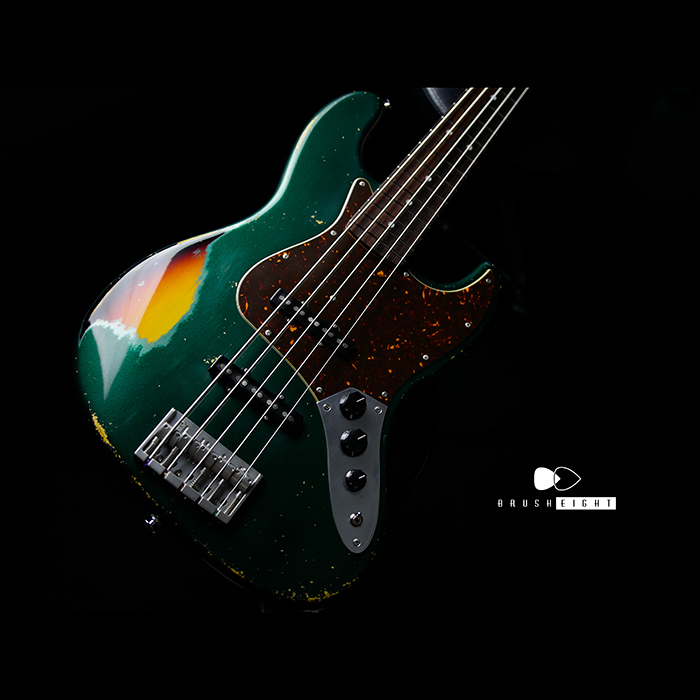 "【新春SALE】Black Cloud Guitar Beta J5  Aging Label   ""Sherwood Green Metallic"" Multilayer #032"