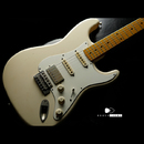 "【SOLD】TMG Guitar Co. Dover SSH ""Blonde"" Light Aging Flame Maple 1piece"